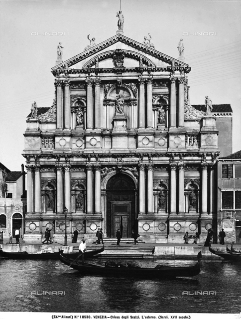 Church of the Scalzi, also called Church of Santa Maria di Nazareth, in Venice