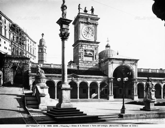 Torre dell'Orologio or Clock Tower, Piazza della Libertà, Udine