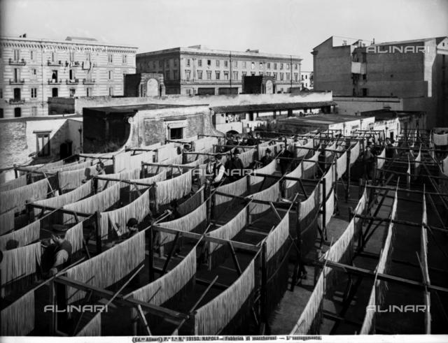 Drying area of a macaroni company in Naples