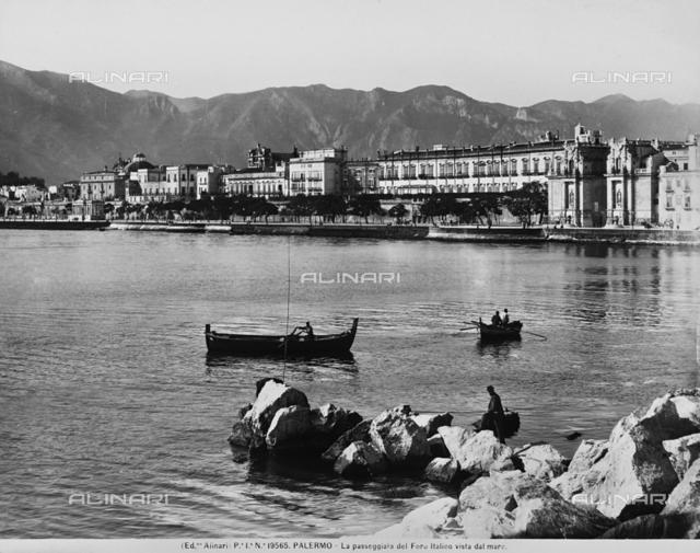 View of the Foro Italico promenade, in Palermo