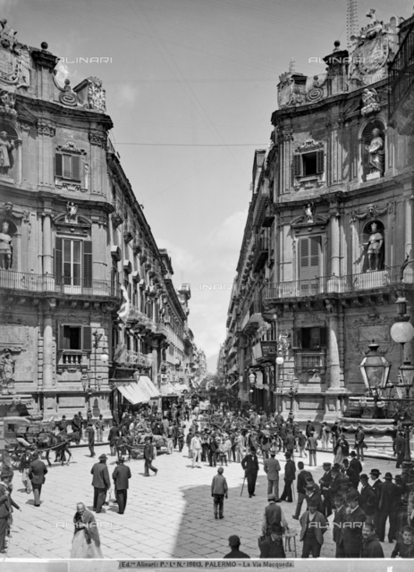 View of Via Maqueda in Palermo