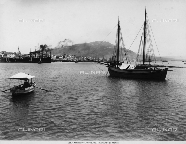Boats in the port of Trapani