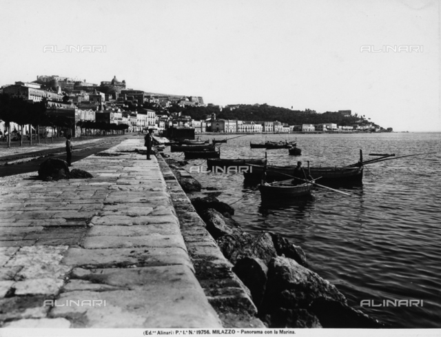 The seafront and the pier of Milazzo