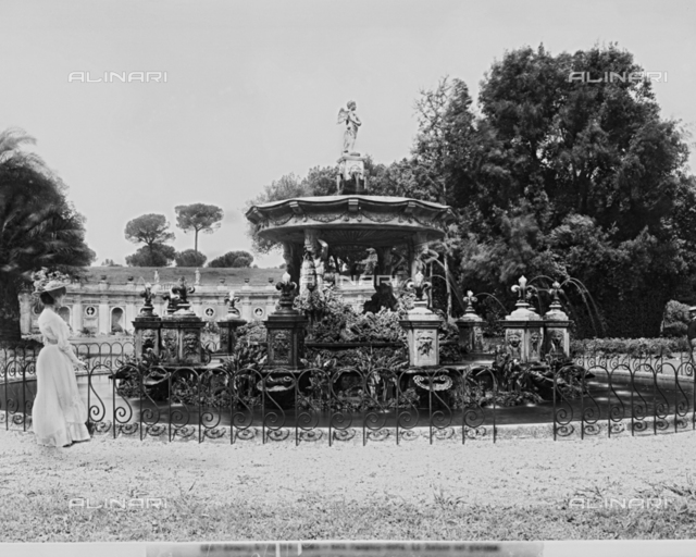The Putto Fountain in the park of Villa Doria Pamphilj in Rome