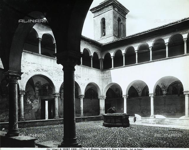 Cloister, Saint Oliva's Church, Cori.