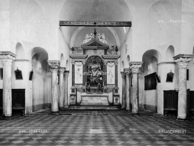 Interior of the church of Santa Fosca on the island of Torcello, Venice