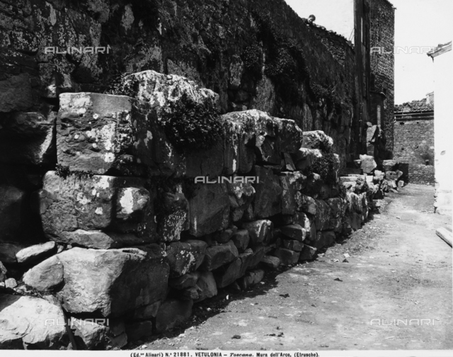 "The walls known as the ""Mura dell'Arce,"" Vetulonia"