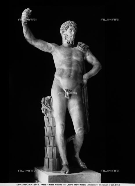 Statue of emperor Marcus Aurelius, Louvre Museum, Paris