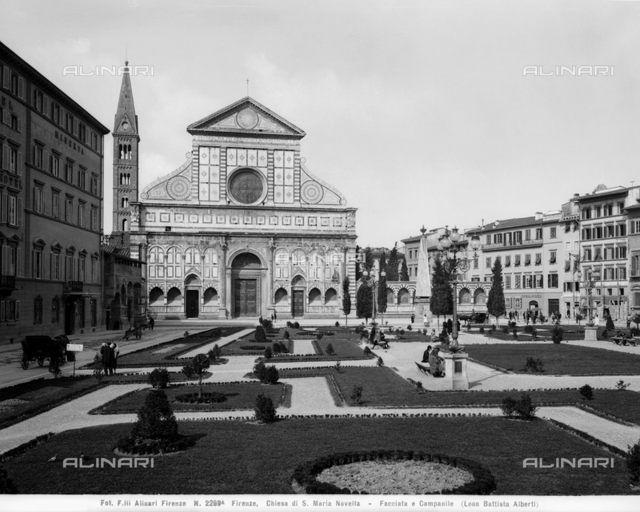 Piazza Santa Maria Novella with the garden