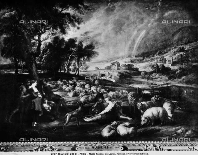 Landscape with scenes of pastoral life, Louvre Museum, Paris.