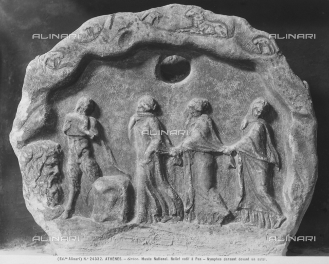 Relief dedicated to Pan, with dancing nymphs, National Archaeological Museum, Athens