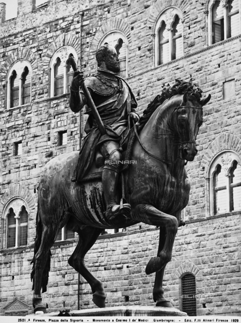 Equestrian monument to Cosimo I, Piazza della Signoria, Florence