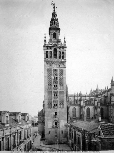 Bell tower of Giralda, Cathedral, Seville, Spain
