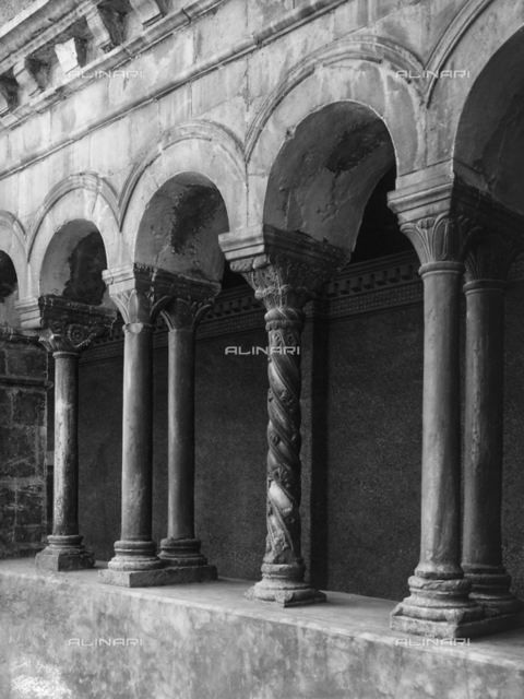 Third cloister, known as the cosmatesque cloister, monastery of Santa Scolastica, Subiaco