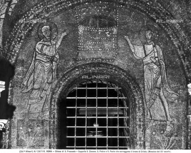 Prophets and the throne of Christ, Chapel of St. Zenone, Church of S. Prassede, Rome