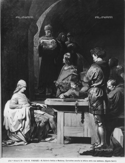 Corradino di Svevia Listening to His Sentence, Galleria d'Arte Moderna, Florence