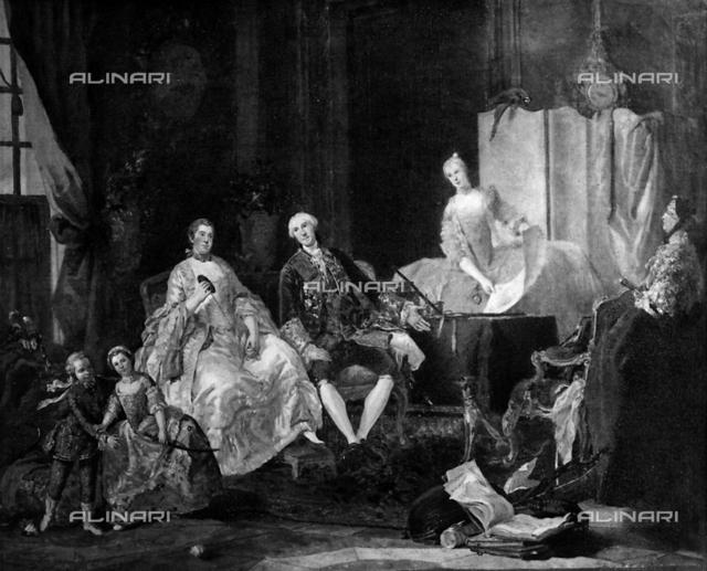 Family of don Filippo di Borbone, National Gallery, Parma