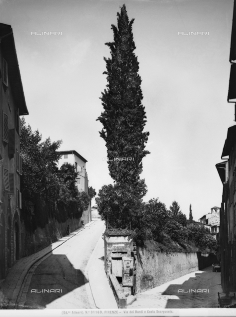 Costa Scarpuccia and Via de' Bardi in Florence