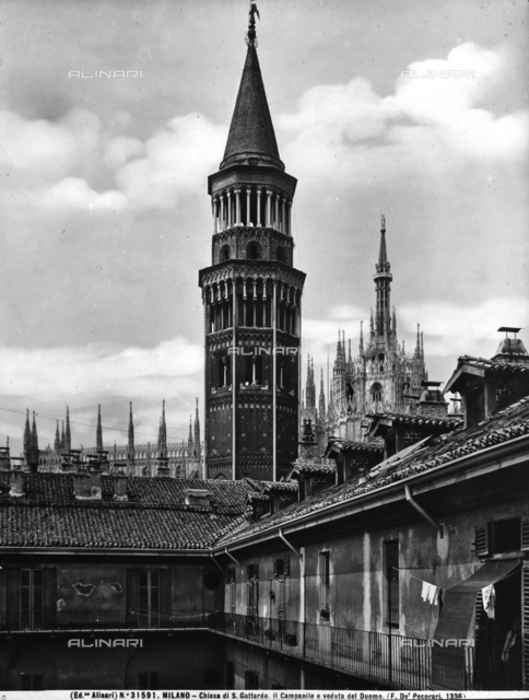 Bell tower, Church of San Gottardo in Corte, Milan