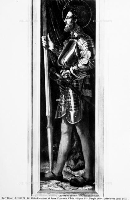 Portrait of Francesco d'Este in the figure of St. George, Brera Gallery, Milan