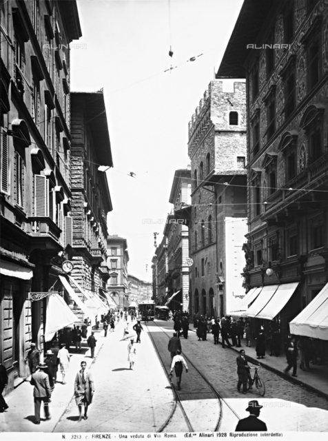 Via Roma in Florence