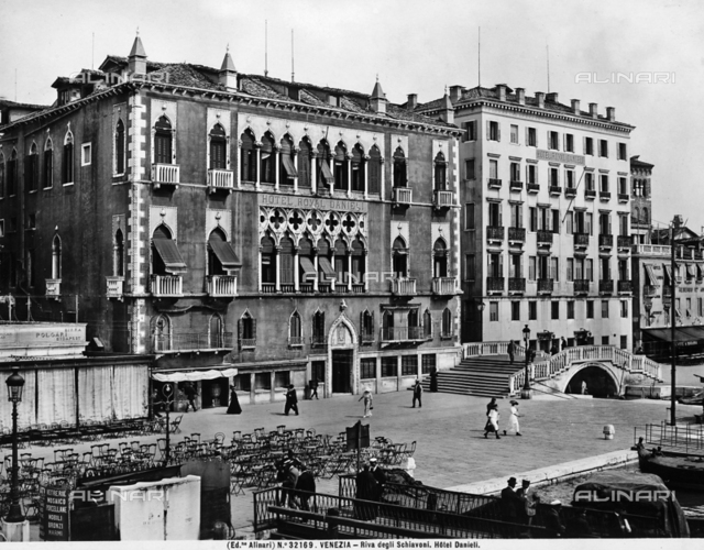 Hotel Danieli, formerly Palazzo Dandolo, on the Schiavoni shore, Venice
