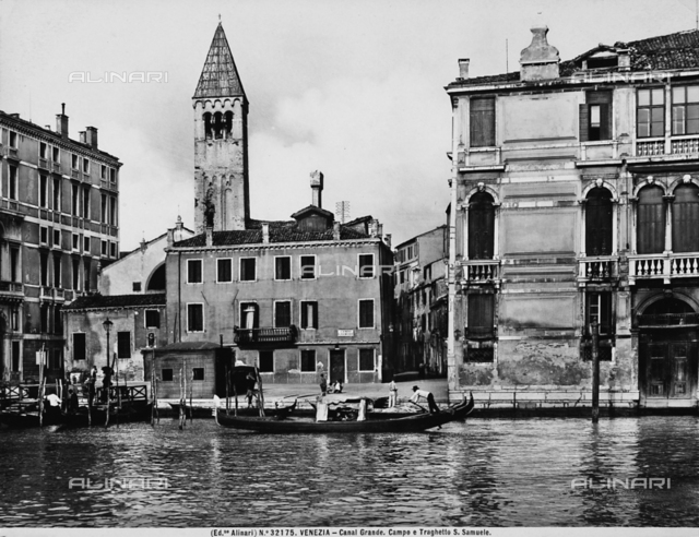 View of the Campo San Samuele on the Grand Canal in Venice