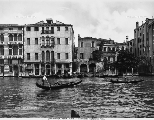 View of Campo San Felice on the Grand Canal in Venice