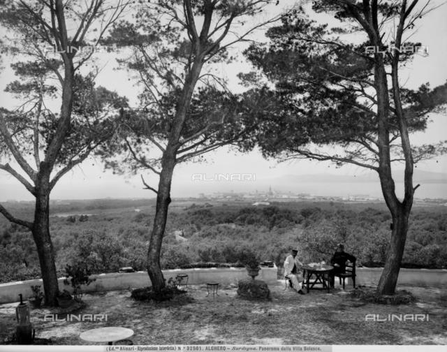 Panoramic view of Alghero from Villa Bolasco, Sassari