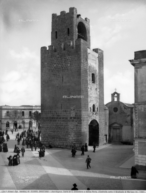 Tower of Mariano II, also known as the tower of San Cristoforo or the Porta Manna, Oristano