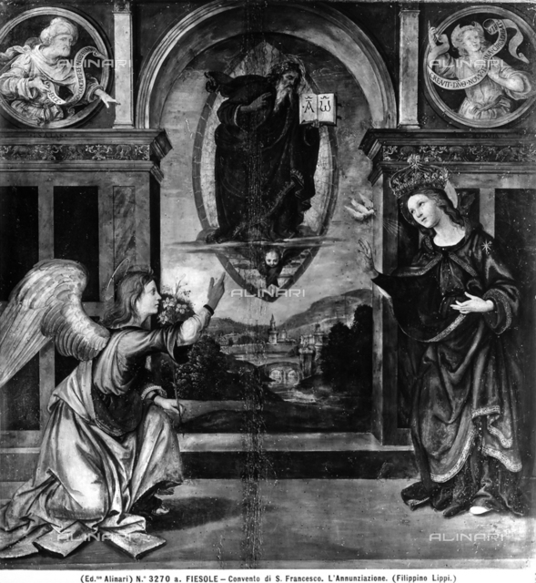 Annunciation, painting by Filippino Lippi, Convent of St. Francis, Fiesole.