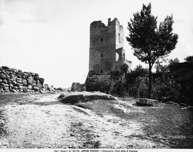 Ruins of a tower (called tower of Cicero), in Arpino