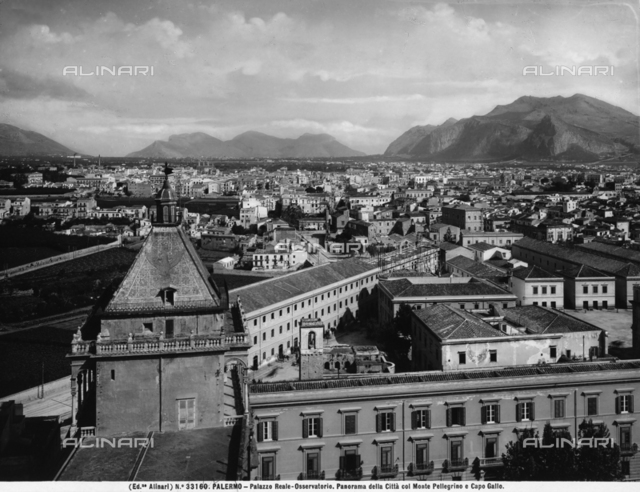 View of the city of Palermo with Mount Pellegrino in the background