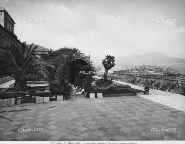 View of the port from the terrace of the Royal Palace, Naples