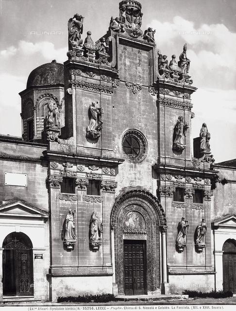 Faà§ade, Church of Saints Niccolò and Cataldo, Lecce, Apulia