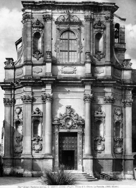 Faà§ade of the church of S. Chiara, Lecce.