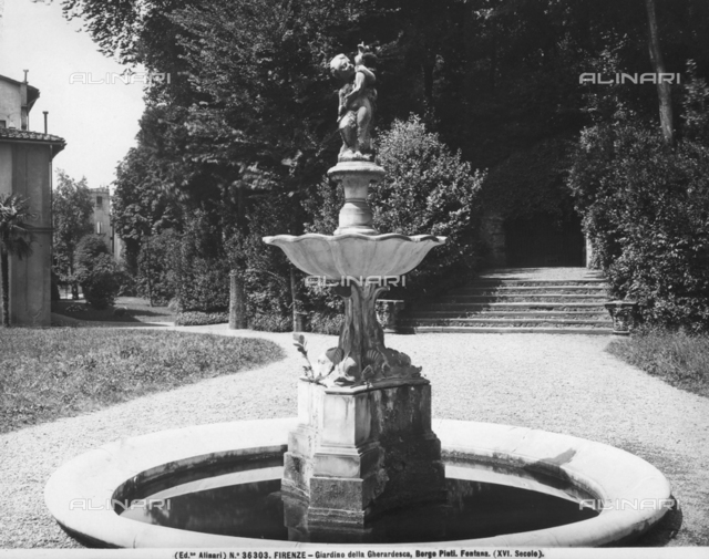 Fountain in the garden of the Palazzo Gherardesca, Florence