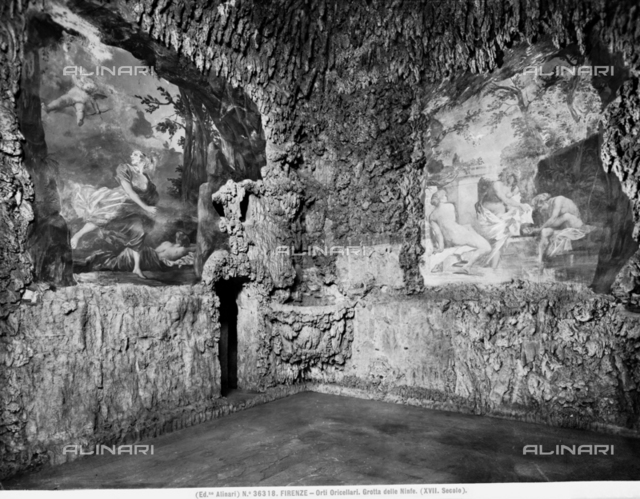 Partial view of the Grotto of Polyphemus in the Oricellari Gardens, Florence.