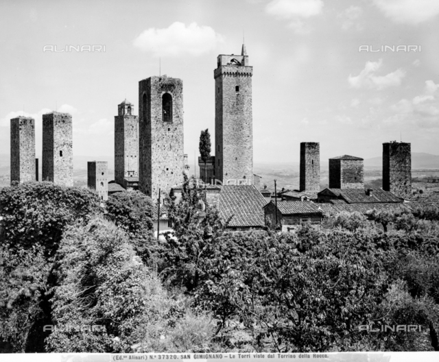 Panoramic View of the Towers of San Gimignano