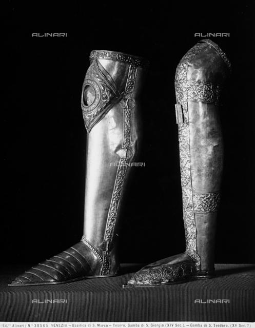 Leg of St. George, reliquary, Treasury of St. Mark's Basilica, Venice