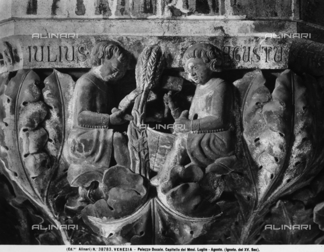 The months of July and August, capital, Doge's Palace, Venice
