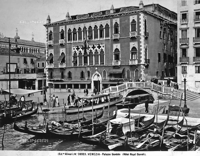 Hotel Danieli, formerly Palazzo Dandolo, on the Schiavoni shore, Venice