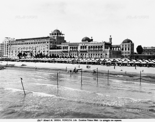 Excelsior Palace Hotel at the Lido of Venice, seen from the sea