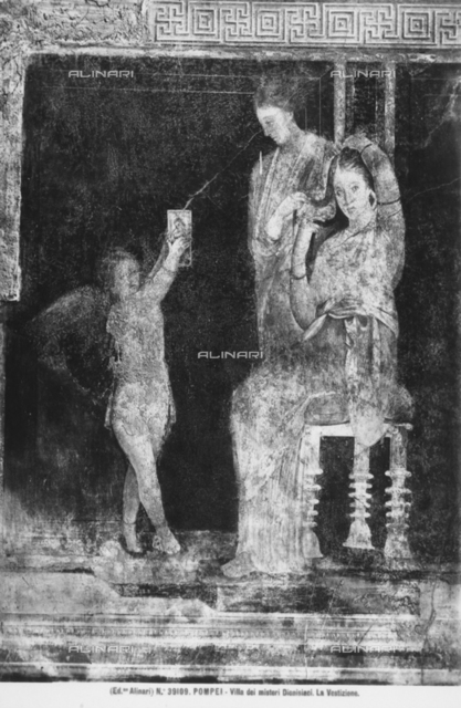 Bride being dressed, Initiation Chamber, Villa of Mysteries, Pompeii