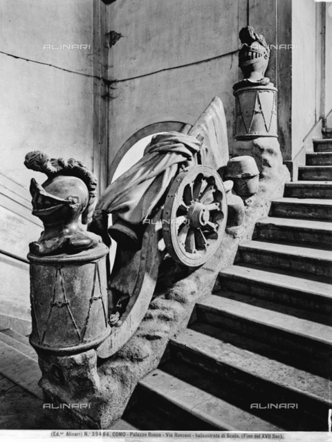 Balustrade of the stairway, Palazzo Rusca, Como.