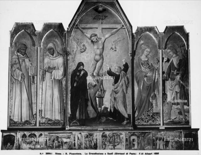 Crucifixion and saints, National Picture Gallery, Siena