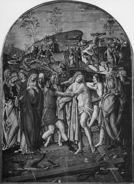 Jesus Christ at the Calvary, from the school of Francesco di Giorgio Martini, Picture Gallery, Siena