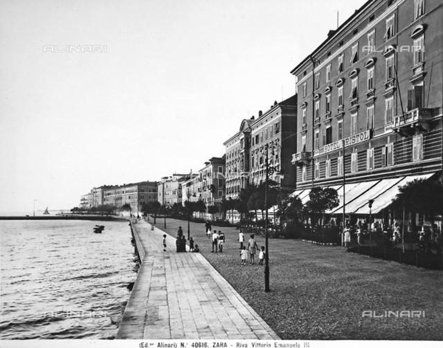 Vittorio Emanuele III shore in Zara.