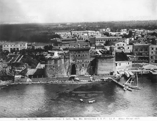 Coastal view of Nettuno with the San Gallo Castle