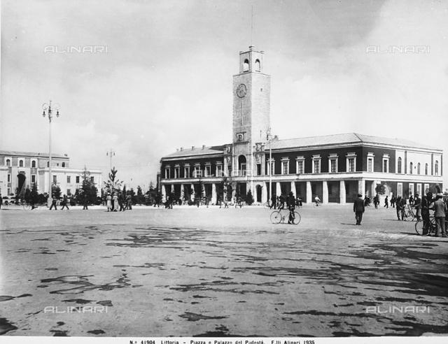 The City Hall in Piazza del Popolo, in Latina